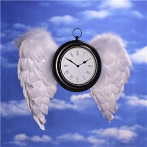 Winged Clock represents time management tips