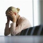 woman not coping with stress